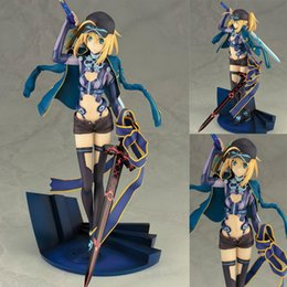 Wholesale Mysterious Box - PVC Mysterious Heroine anime Fate   Grand Order boxed X Saber 22cm action figure collection cartoon model gift T7486