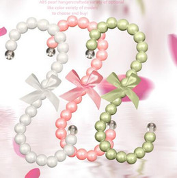 Perchas de plástico rosa online-5 unids / lote percha de plástico percha 15 cm moda mujer clips blanco rosa en forma de S gancho para ropa perchero 10 color