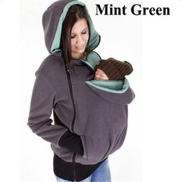 Wholesale Winter Pregnancy Fashion - Baby Carrier Jacket Kangaroo hoodie Winter Maternity Outerwear Coat for Pregnant Women Thickened Pregnancy Baby Wearing Coat