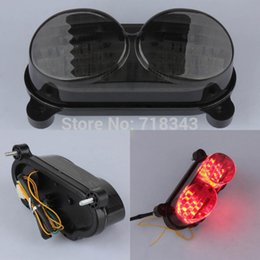 Wholesale Motorcycle Led Tail Lamp - Motorcycle OEM LED Tail Light Lamp TailLight Turn Signals Smoke For 1998-2007 Kawasaki ZX6R ZX900 ZX9R ZZR600 ZR7S