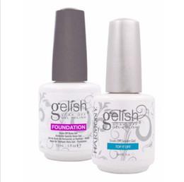 Wholesale Harmony Nail Polish - Harmony gelish polish LED UV nail art gel TOP it off and Foundation nails Top coat Base coat