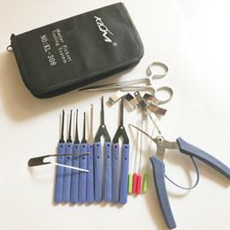 Livraison gratuite Klom marque Master Toolset système d'outillage KL-308 cassé voiture clé enlèvement pick outils ensemble ? partir de fabricateur