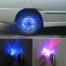Wholesale Blue Led Tire Valve Caps - 5Color Car Tire Tyre Wheel LED Valve Cap Stem Lights Lighting Blue Decoration 2 pcs set