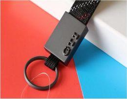 Wholesale Vw Key Ring Leather - Wholesale Metal Fabric VW GTI Key Ring Keychain Logo Black KeyTag Key Chain Key ring jewelry Fit For VW GMK2 3 4 5 6 Car golf 2017 Popular