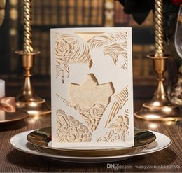 Wholesale Party Goods Manufacturers - Laser cut hollow wed invitations manufacturer,wedding invitations,Korean invitation cards,wedding supplies in good price, DHL free shipping