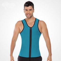 Wholesale Men Hot Shaper - 2017 Hot Sale Slimming Belt Belly Men Zip Vest Body Shaper Man Neoprene Abdomen Thermo Tummy Waist Sweat Corset Weight Loss underwear