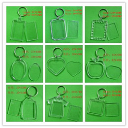 Wholesale Photo Inserts - DIY Blank Photo Keychains Transparent Acrylic Key Chains Insert Photo Plastic Keyrings ,500pcs Free DHL Fedex