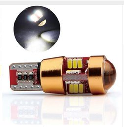 Wholesale Can Bus Led Bulbs - 100X Canbus Error Free T10 W5W LED Light Bulb Lamp 3014 27SMD with len can bus led lights can bus cars white