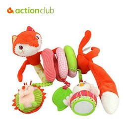 Wholesale Kids Cots - Wholesale- Actionclub Baby Toys Fox Educational Mobile Toys For Kids Newborn Baby Confort Cot Beds Rattle Hands Eyes Training Stroller Toy