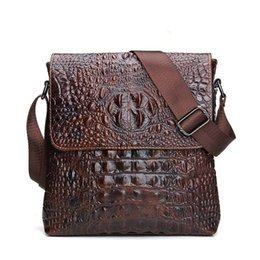 Wholesale Genuine Crocodile Handbag Man - 2017 Genuine Leather Men Bag For Mele Crocodile Style Men's Business Messenger Bag Tablet PC Handbag For High Quality