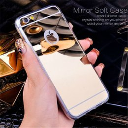 Wholesale Galaxy Note Gold Bumper - Luxury Acrylic Mirror TPU Bumper Case For iPhone 5 5S SE 6 6S 7 Plus GALAXY S6 S7 Edge Plus NOTE 5 Dustproof Protective Cover