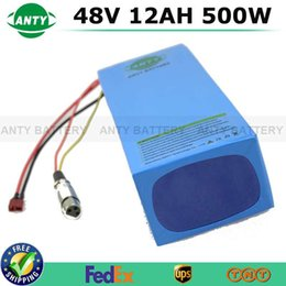 Wholesale Electric Bicycle Set - 48V 12Ah 500W ebike Rechargeable Lithium Battery With 54.6V 2A Charger 15A BMS Safe Electric Bicycle Scooter Battery Pack Set