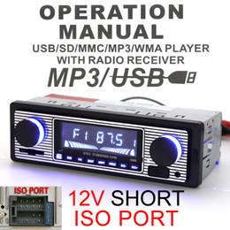 Wholesale Audio Speaker Amplifier - New Arrival Bluetooth Car Radio MP3 Player Stereo Audio Support FM   USB   SD   AUX Remote Control CAU_01Z