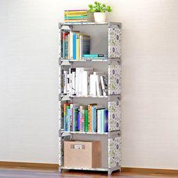Wholesale Folding Room - Five Layers Waterproof Storage Bookshelf Holders Racks Home Storage Racks Office Organizer Stuff Accessories Supplies VT0690