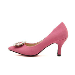 light pink shoes heels Coupons - Women Pumps Sexy High Heels 7CM Pointed  Toe Party Shoes 4acd997d15b3