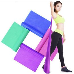 Wholesale Yoga Pull Rope - Fitness Yoga chest pull rope with multifunctional power thin elastic resistance of belt tension Strength Training Resistance Bands 5 colour
