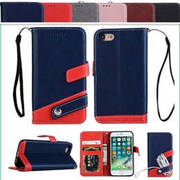 Wholesale Earphones Pouch - For Iphone X 8 7 6 Plus Leather Case Card Slots Photo Frame Earphone holder Color Samsung Galaxy S8 plus S7 edge S6