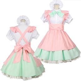 Tentação uniforme japonês on-line-Malidaike Maid Maid Cosplay Ladies Lolita Anime Performance Service Restaurante Maid Uniform Temptation Stage Costume