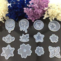 Wholesale Transparent Sailor - Transparent DIY Silicon Round Shape Moon Star Sailor Moon Watermark Pendant Trojan Mold Mould Jewelry Making Tools