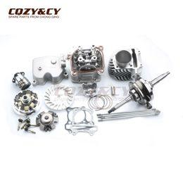 Wholesale Racing Crankshaft - 61mm   15mm 180cc 4 valve Racing Big Bore Cylinder & Head Kit & High Performance Crankshaft for GY6 125cc 150cc 152QMI 157QMJ