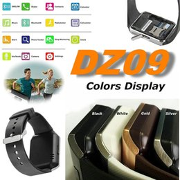 Wholesale Lg Android Sim Card - DZ09 Bluetooth SmartWatch phone For Android LG HTC SIM Card Wrist Watch Pk U8 GT08 A1 GV18 Smartwatch Smart Watches SB-DZ09