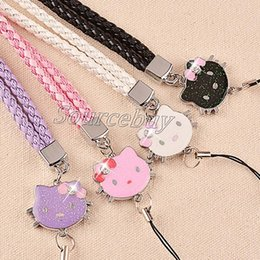 Wholesale Doraemon Mobile - New Arrival Fashion Mobile Phone Lanyard Pretty Flowers Doraemon Hello Kitty Mouth Monkey Cell Phone Straps & Charms Neck Hang Rope Braided