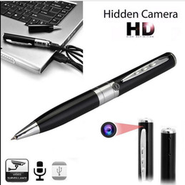 Wholesale Spy Pen Camera Recorder - Mini camera pen camcorders 1280*960 avi HD Spy pen Cameras hidden Pen recorder DVR support 32G Micro TF Card Hidden camera listen device