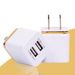 Wholesale Usb Wall Adapter Free Shipping - Dual USB Wall Charger For Smart Phones Charger Wall Plug AC Travel Adapter Free Shipping Universal