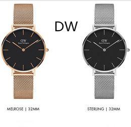 Wholesale Relogio Water - 2017 AAA 32mm Daniel watches Top brand women watch rose gold Luxury Brand Quartz Watch Female Clock Relogio Montre Femme Wristwatches