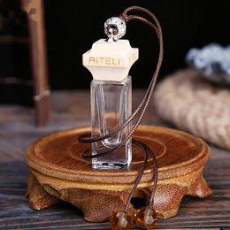 Wholesale Glass Car Fragrance Bottles - Car Perfume Bottle Hanging Cute Air Freshener Carrier Home Fragrance Deodorant glass Bottle fast shipping F20171582