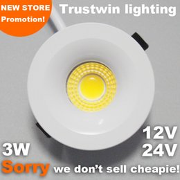 Wholesale Miniature Light Lamps - Wholesale- 10 pieces 3W foyer living micro small ceiling white miniature spot 12v 24V light lamp mini COB LED light downlight 3W