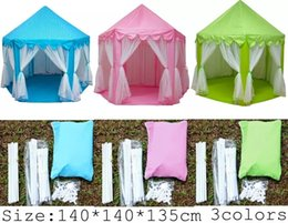 Wholesale Kids Play Outdoors - INS Children Portable Toy Tents Princess Castle Play Game Tent Activity Fairy House Fun Indoor Outdoor Sport Playhouse Toy Kids Gifts b1359