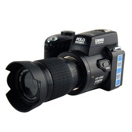 Wholesale Digital Video Camera Binoculars - 2016 New Polo Protax SLR D3000 Digital Camera 16MP 3.0 TFT 8X Zoom HD Digital Video D3000 Telephoto digital camera High Quality