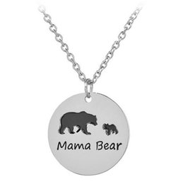 Wholesale Men Bear Necklace - 2017 Black Chain choker letter mama bear Necklaces Necklaces men Women necklaces Girl gift 203