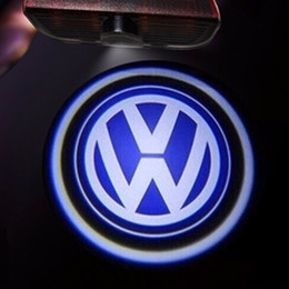 Wholesale Logos Light - LED Door Logo Projector Light FOR VW Passat B6 b7 Golf 5 6 7 Jetta MK5 MK6 CC Tiguan Scirocco With VW R R line logo