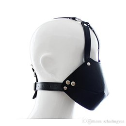 Wholesale Muzzle Head Harness - New Sex Bondage Head Harnesses Muzzles Mouth Mask Ball Gag Panel Ballgags Adult Slave Trainer Gags
