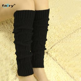 Wholesale Fairy Knitting - Wholesale- AG 16 Fairy Store 2016 Hot Selling Women's Cable Knit Leg Warmers Socks