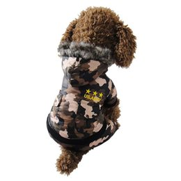 Wholesale Hoodie Teddy - ASLT Soft Winter Warm Pet Clothes Cozy Snowflake Dog Teddy Hoodie Camouflage Free Shipping