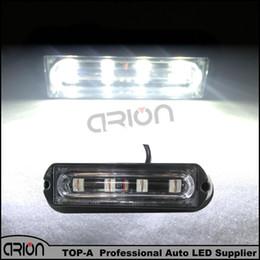 Wholesale Strobe Drl - White 18 Flashing Modes 4 LED 4W Waterproof Car Truck Emergency Strobe Flash Warning Light Lamp DRL 12 24V