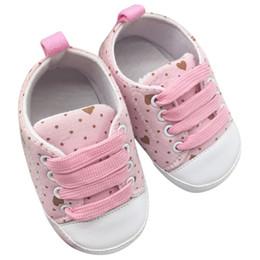 Canada Vente en gros - Enfants en bas âge Bébé Garçons Filles Chaussures à crans de coton à semelle souple Lacets occasionnels Prewalkers B88 cheap infant lace shoes Offre