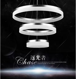Wholesale Modern Acrylic Foyer Lighting - For restaurant foyer bedroom dinning room droplight Modern round ring circular PMMA Acrylic LED chandelier light hanging lamp