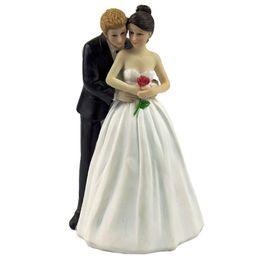 "Wholesale Bride Groom Figurines - Wholesale- ""Yes to the Rose"" Wedding Cake Decoration Custom Bride & Groom Couple Figurine Wedding Cake Topper"