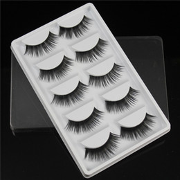 Conseils naturels pour le maquillage en Ligne-Faux cils croix épais naturel faux cils cils conseils de maquillage professionnel patudage long faux cils