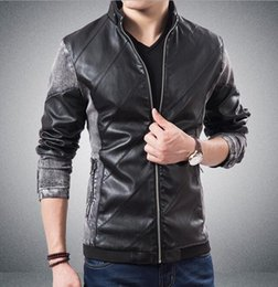 Wholesale Fashion Leather Garments - Europe and the United States the new joining together cultivate one's morality men's winter water to wash garment leather jacket   M-5XL