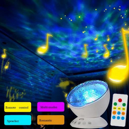 Wholesale Usb Timer Lamp - Sensor Touch Remote Control Ocean Projector Led Night Light With Music Timer Usb Lamps Children Room Party Decor