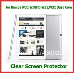 "Wholesale Ramos Tablet Pc - Wholesale- 3pcs Clear Screen Protector Film Size 252.5x159mm for 10.1"" Tablet PC Ramos W30,W30HD,W31,W32 Quad core NO Retail Package"