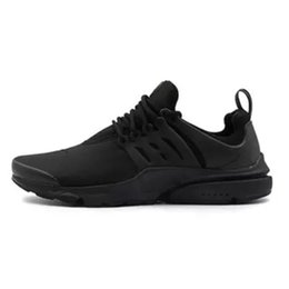 Wholesale Fine Fabrics - Air Presto Running Shoes Fine Mesh Breathable Air Presto Blackout Cheap Sneaker Red Navy Blue Triple White Black Fall Olive xz55