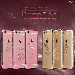 Wholesale Cheap Case Iphone Diamond - Hot Selling Case For iPhone 6 6S 6S Plus Silicone Case Coque Luxury Soft TPU Bling Diamond phone Case high quality cheap price free shipping