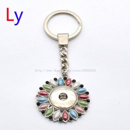 Wholesale Resin Purse - Colours NOOSA Silver Metal Pendant Purse Bag Car Key Chain Ring fit rhinestone jewelry accessories snap noosa jewelry NR0121