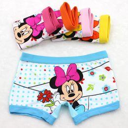 Wholesale Boxer Briefs Girls - Cotton 3-11 years baby girls panties Cartoon Kids underwear pants Children's briefs Girls Cute boxer shorts